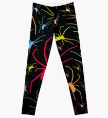 Spider pattern crawling colored spiders Leggings