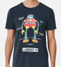 Camiseta premium para hombre LLAMABOT-01
