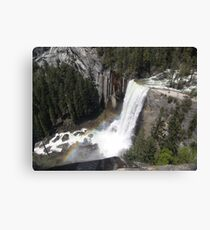 Vernal Falls Rainbow. Yosemite Canvas Print
