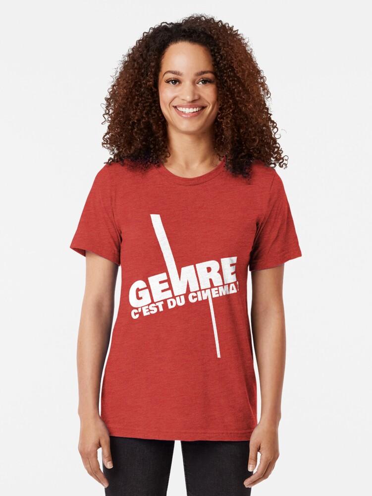 Alternate view of Genre is cinema - White Tri-blend T-Shirt
