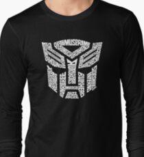 Transformer Autobots White Long Sleeve T-Shirt