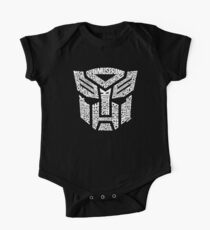 Transformer Autobots White Kids Clothes