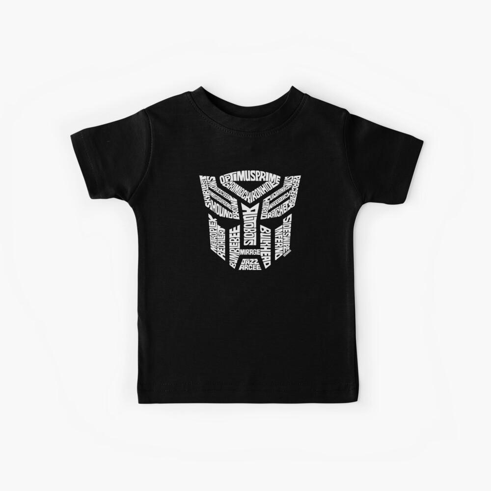 Transformer Autobots White Kids T-Shirt
