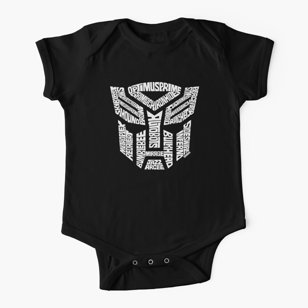 Transformer Autobots White Baby One-Piece
