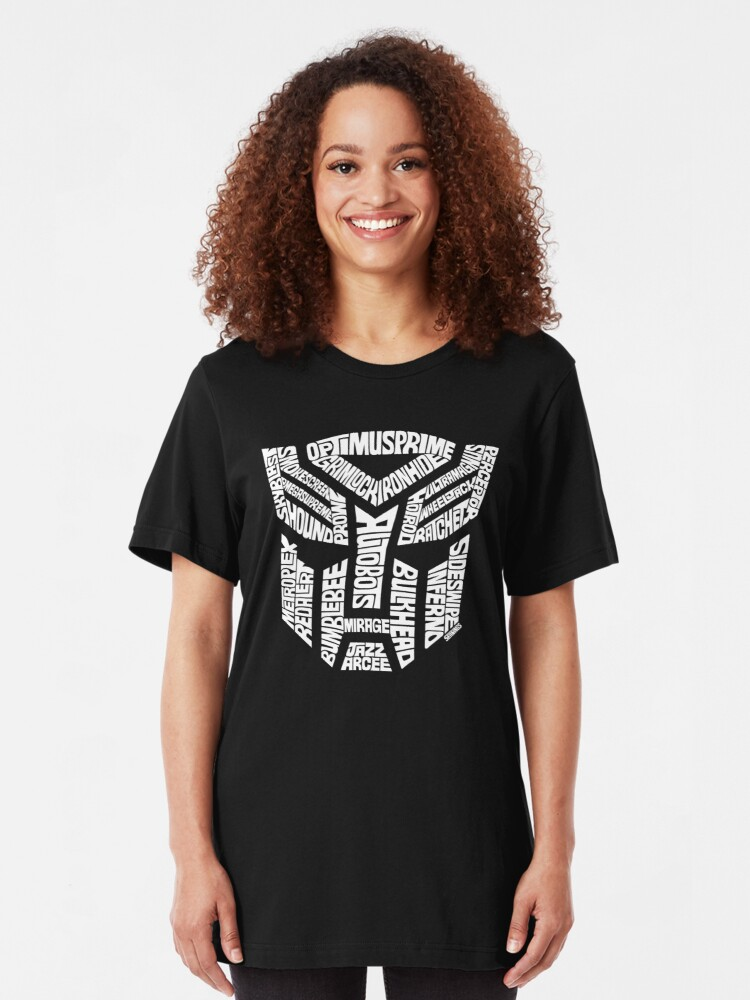 Alternate view of Transformer Autobots White Slim Fit T-Shirt