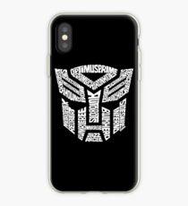 Transformer Autobots White iPhone Case