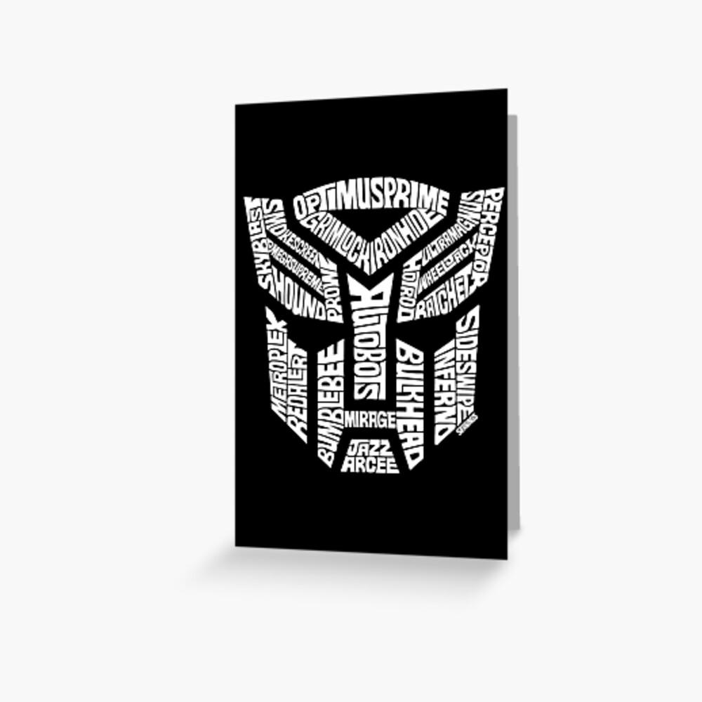 Transformer Autobots White Greeting Card