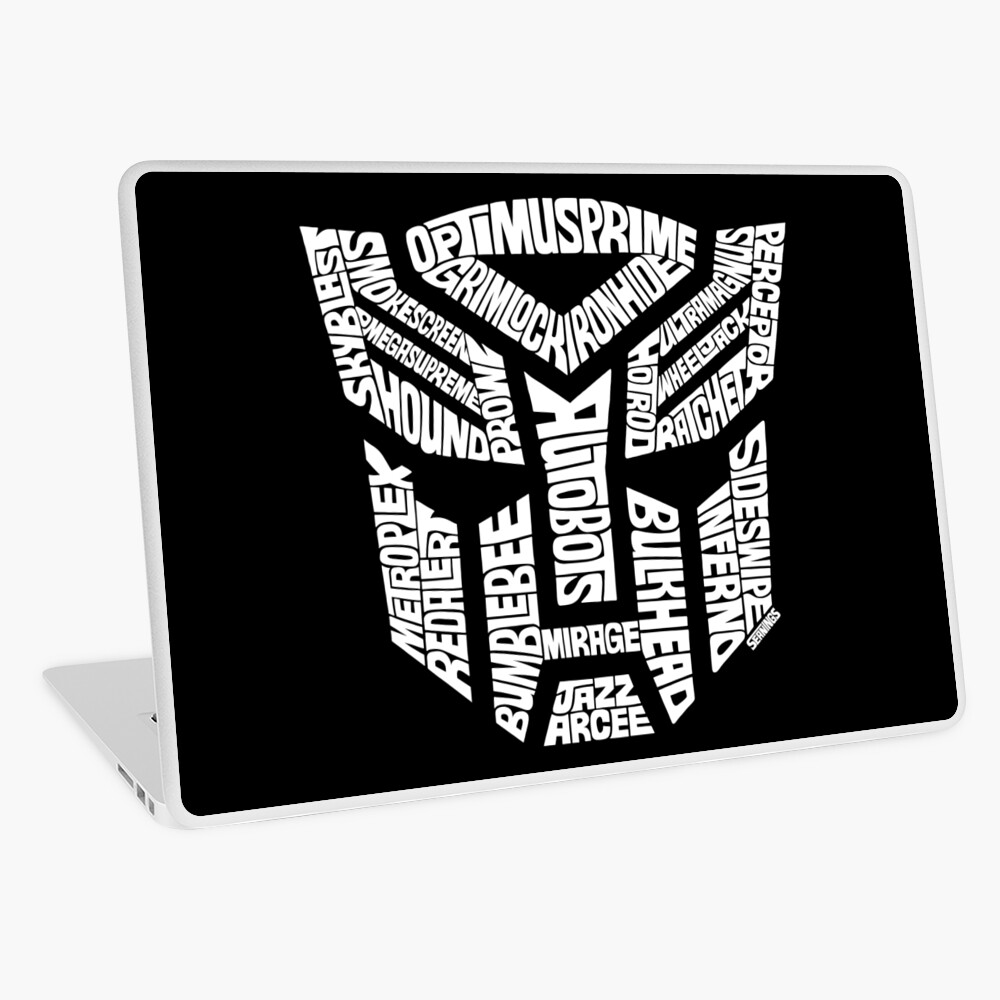 Transformer Autobots White Laptop Skin