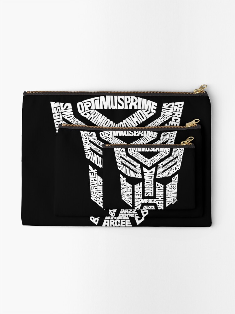 Alternate view of Transformer Autobots White Zipper Pouch