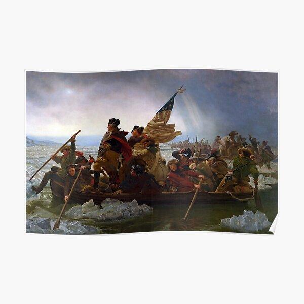Washington Crossing the Delaware E Gottlieb Leutze Poster