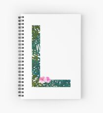 L - Tropical Alphabet Series Spiral Notebook