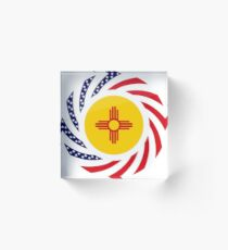 New Mexican Murican Patriot Flag Series Acrylic Block