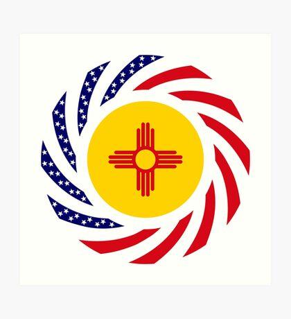 New Mexican Murican Patriot Flag Series Art Print