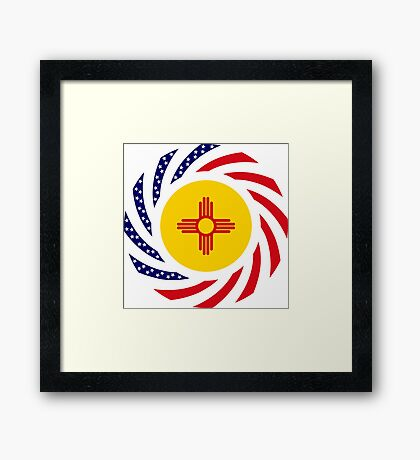 New Mexican Murican Patriot Flag Series Framed Print