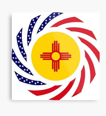 New Mexican Murican Patriot Flag Series Metal Print