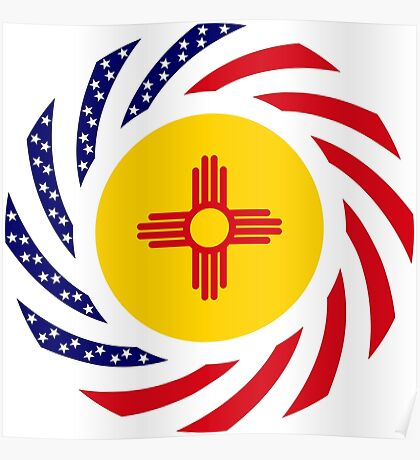 New Mexican Murican Patriot Flag Series Poster