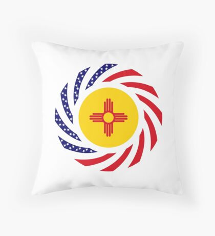 New Mexican Murican Patriot Flag Series Throw Pillow