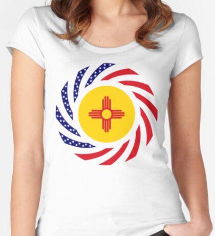 New Mexican Murican Patriot Flag Series Fitted Scoop T-Shirt