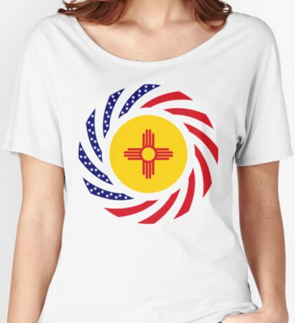 New Mexican Murican Patriot Flag Series Relaxed Fit T-Shirt