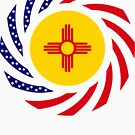 New Mexican Murican Patriot Flag Series by Carbon-Fibre Media