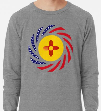 New Mexican Murican Patriot Flag Series Lightweight Sweatshirt