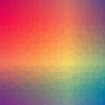 Abstract Color Multi Polygon Cubism Low Poly Triangle  by brusencov386