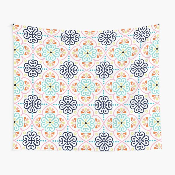 Moroccan Pattern pastel 1 Tapestry