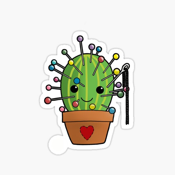 cactus cushion Sticker