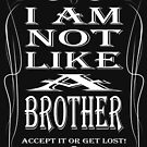 I am not like a brother von Exilant