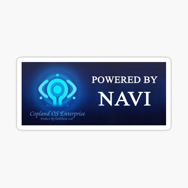 Powered by NAVI - Copland OS Sticker