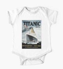 Body de manga corta Titanic - cartel de la vendimia