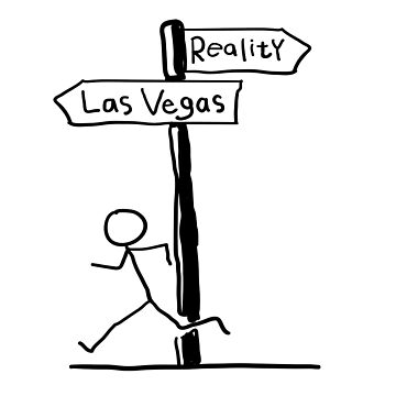 Funny Signpost Themed Las Vegas Design by EireShirts
