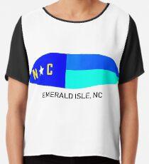Nautical NC Surfboard  (Emerald Isle, NC) Chiffon Top