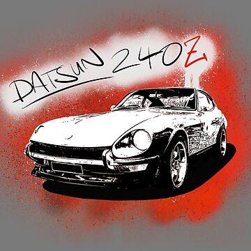 Datsun 240Z on graffiti by Holneub