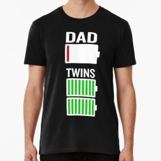 e82cba327 Tired Dad Low Battery Twins Full Charge Funny Gag Gift