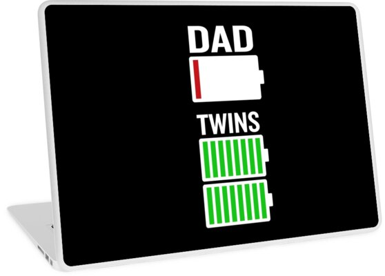 4b0eee225 Tired Dad Low Battery Twins Full Charge Funny Gag Gift by JapaneseInkArt