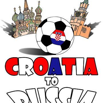Croatia National Soccer Team to Russia T-Shirt by MaliDo