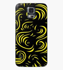 Mcclintock Abstract Expression Yellow Black Case/Skin for Samsung Galaxy