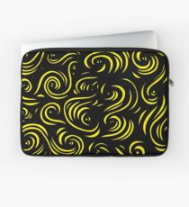 Mcclintock Abstract Expression Yellow Black Laptop Sleeve