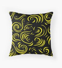 Mcclintock Abstract Expression Yellow Black Throw Pillow