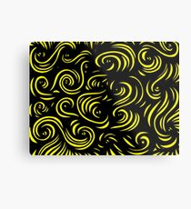 Mcclintock Abstract Expression Yellow Black Metal Print