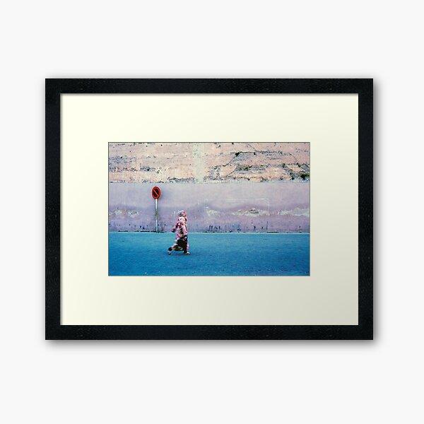 Woman on the Street; Marrakech, Morocco Framed Art Print