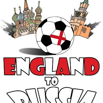 England National Soccer Team to Russia T-Shirt by MaliDo