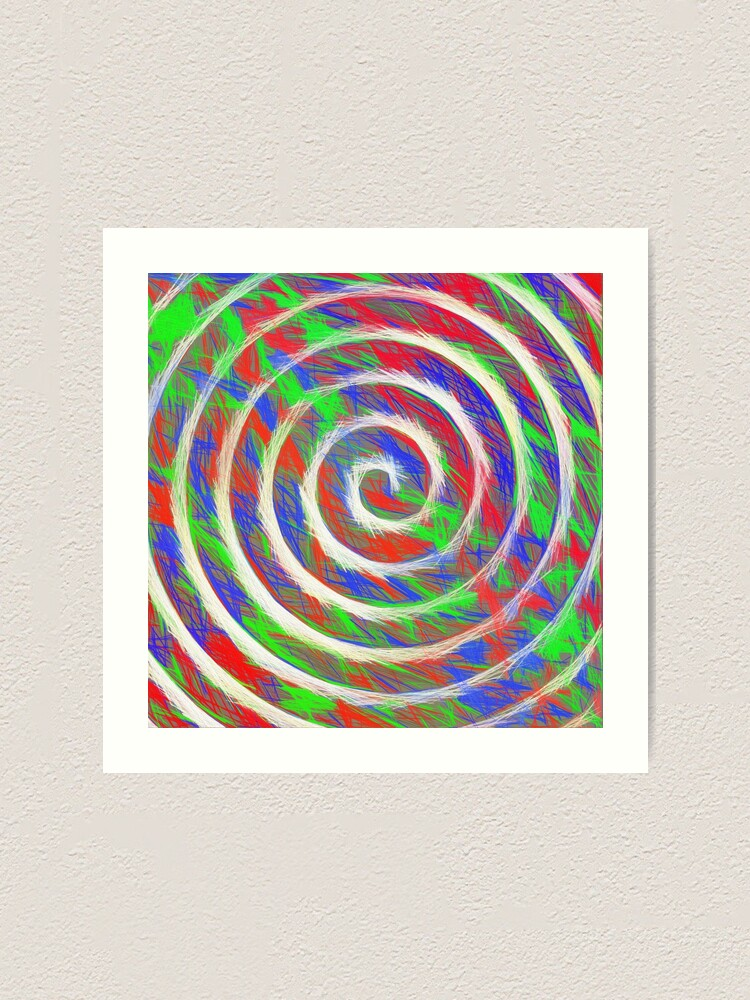 Alternate view of Abstract Spiral Art Print