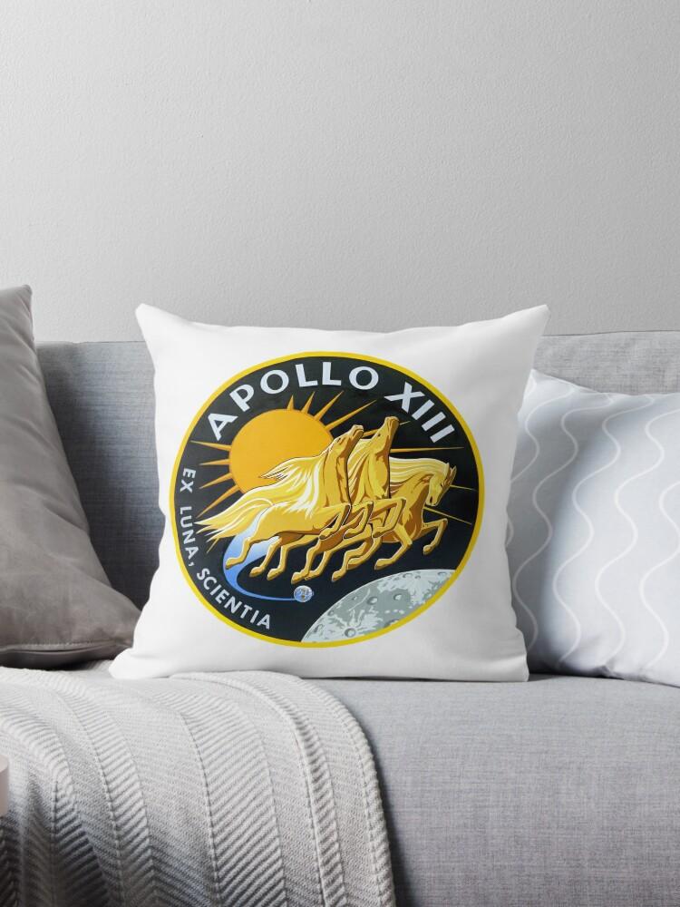 'NASA Apollo XIII (Apollo 13) Mission Patch ' Throw Pillow by jutulen