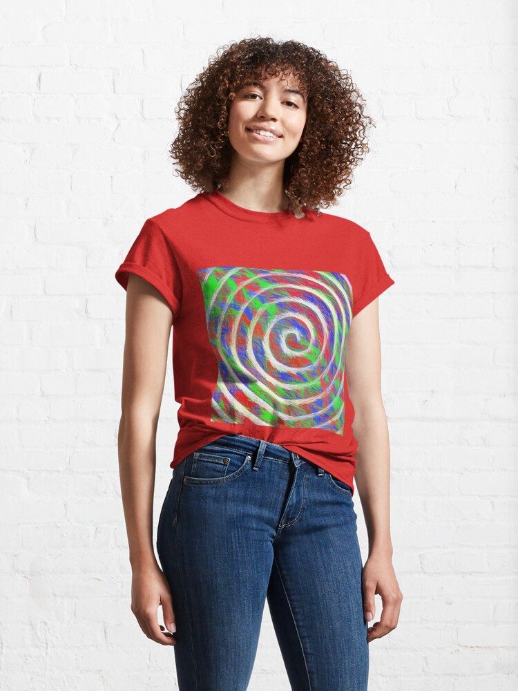 Alternate view of Abstract Spiral Classic T-Shirt