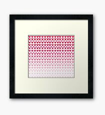 Crimson Scale Framed Print