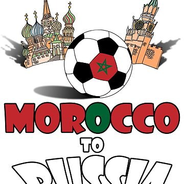 Morocco National Soccer Team to Russia T-Shirt by MaliDo