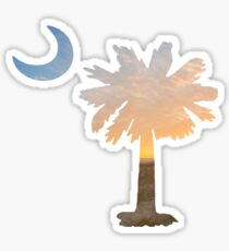 South Carolina Palmetto Moon Sticker