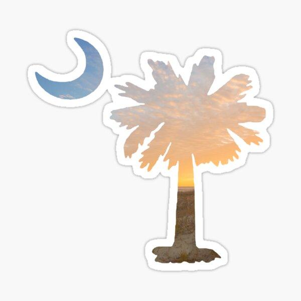 South Carolina Palmetto Moon Sticker